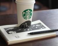 スターバックスのカップに描かれたかわいい絵