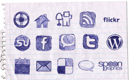Hand Drawn Doodle Icon Set - screen shot