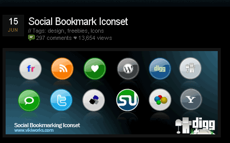 Social Bookmark Iconset screen shot