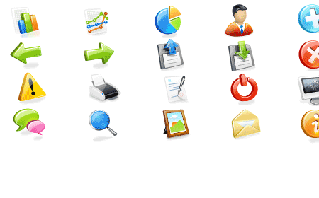 Web Application Icons Set screen shot