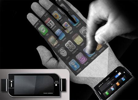 手のひらに投影できるiPhone