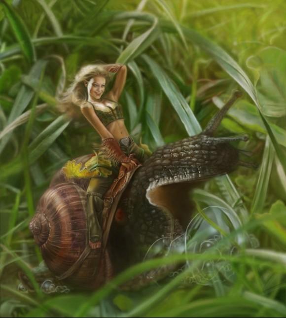 girl-snail