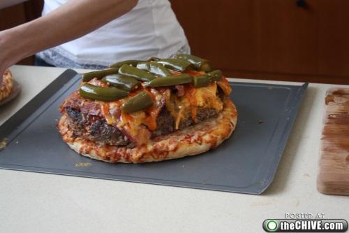 hottie-makes-a-double-decker-pizza-burger-pics-22