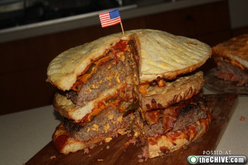 hottie-makes-a-double-decker-pizza-burger-pics-29