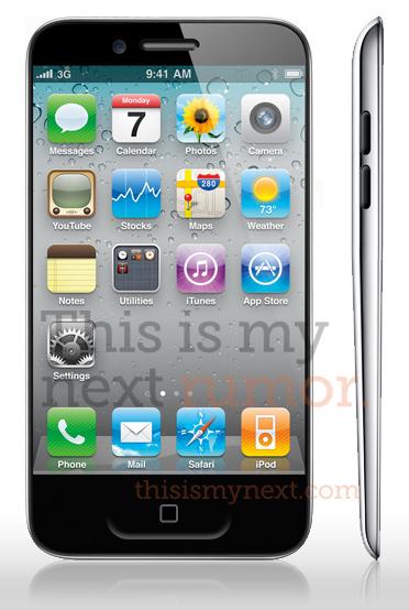 ティアドロップ型iPhone