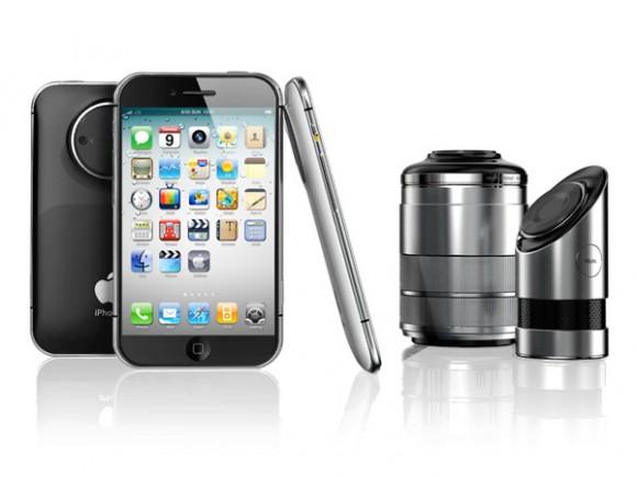 レンズ付きiPhone