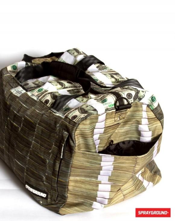 札束バッグのサイドポケット