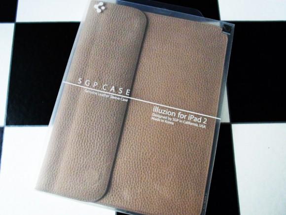 SPIGEN SGP iPad2 / The new iPad 本革 ケース illuzion ビンテージ・ブラウン SGP07636