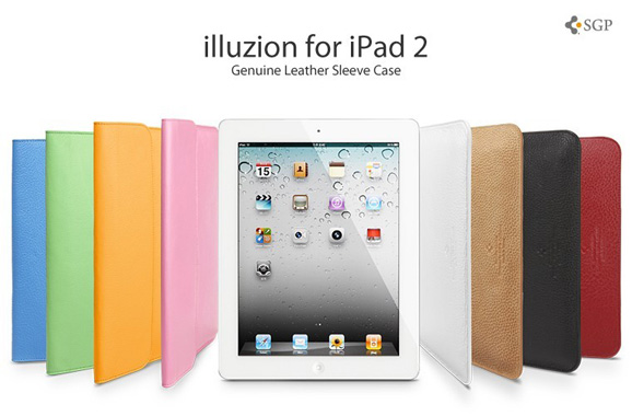 SPIGEN SGP 初代iPad / iPad2 / The new iPad 本革 ケース illuzionシリーズ