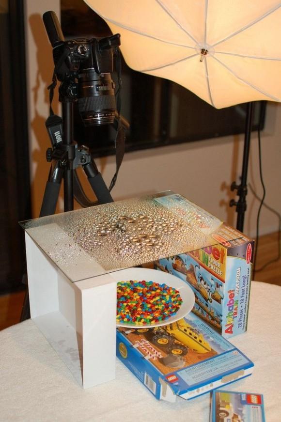 水滴&チョコレートの撮影風景