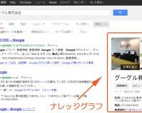 グーグル検索結果に表示されているナレッジグラフ