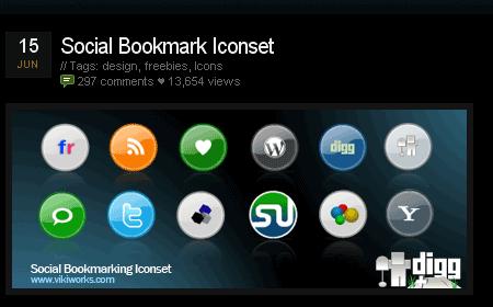 Social Bookmark Iconset screen shot