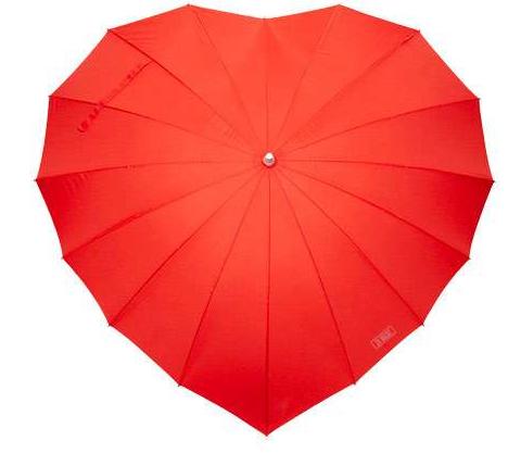ハートの形の傘