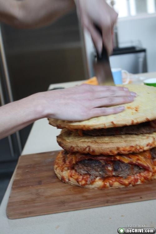 hottie-makes-a-double-decker-pizza-burger-pics-28