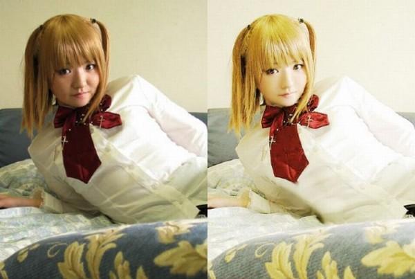 画像加工する前と後の比較写真