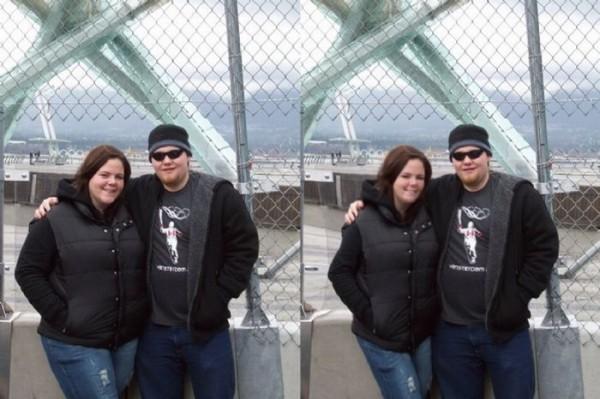 画像加工したカップルの写真ビフォーアフター