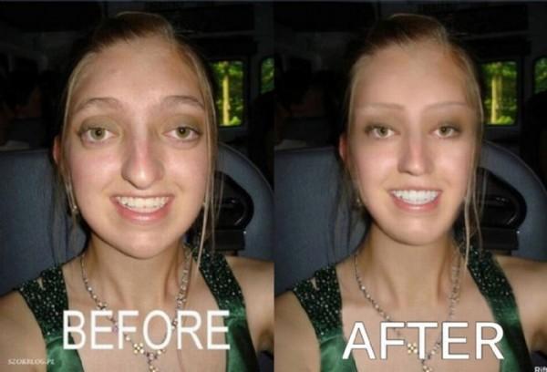 画像加工で変身した女性の写真