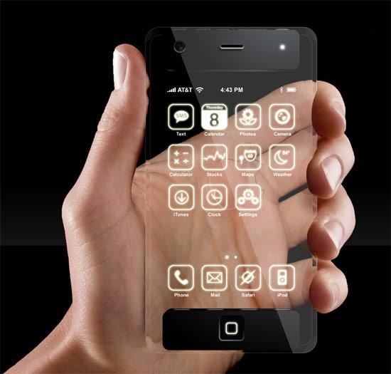 透明なiPhoneコンセプト